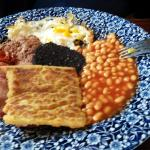 Breakfast is NOT available in the hotel, but you can find British breakfast 5 min away