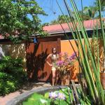 Veronica outside our villa