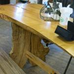 The bench where we sat for lunch was really neat.
