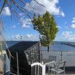 Blick von der Restaurantterrasse auf die Seebrücke