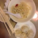 Awesome pork buns and plain soup with noodles! Not so good as polish dumplings, but the best chi