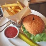 Angus burger with fries