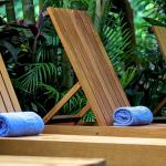 Pool chairs with complimentary towels