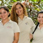 Our lovely girls in reception: Mauren, Susy, Andrea