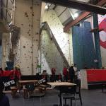 How big is the climbing wall!