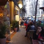 Outside seating was full