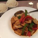 Spicy Thai basil with tofu