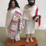 Dolls depicting Toda man and woman
