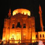 Aksaray mosque at night