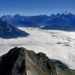 Le Mont Blanc depuis le sommet de la Poite percée
