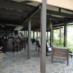 The restaurant terrace overlooking the plantation