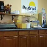 Free Breakfast  Bar, eggs, saisage, bacon, toast, waffles, cereal, oatmeal, yogurt.