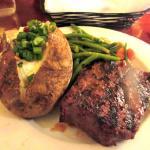 Sirlon Steak, Baked Potato, Green Beans, Tahoe Joe's, Roseville, Ca