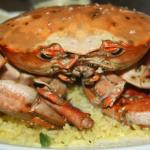 Crab....Cooked in Garlic Butter & Wine, Served on Rice