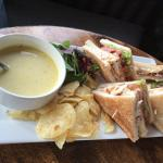 Soup and club sandwich - lovely bar lunch