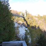 "View of the bridge over the ""Chute"" looking easterly"