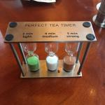 The tea timer from 616 restaurant
