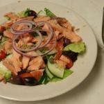 """""""Hot Smoked"""" Salmon Salad"""