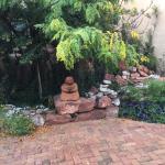 Decorative area outside our door, Purple Lizard Villa