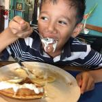 A kid that knows a good waffle.