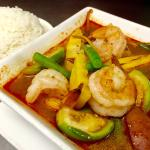Kang Pa curry with shrimp