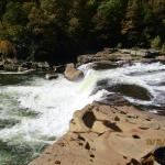 waterfall overlook at nearby state park:good picnic area