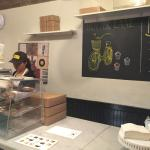Counter and display in the bakery