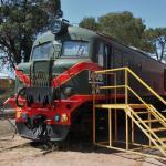 one of many diesel locomotives on display