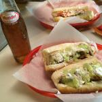 Sonoran hot dogs and a Mexican apple soda, awesome late-night eats