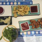 Calamari, Crispy chicken and Edamame beans!