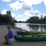 The end of a wonderful day canoeing to Pont du Gard