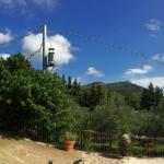 View from the entrance of the agriturismo