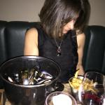 Emine with her Moules & Truffle Chips