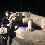 Quick walk to the Nittany Lion