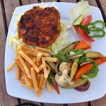 Grilled meat & veg