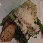 Grilled Caesar salad. Perfectly done