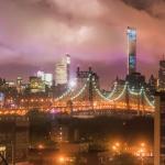 Beautiful view of Manhattan at night