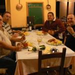 enjoying a very nice steak with the boys....