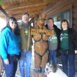 posing with loose Moose and Scout before we left