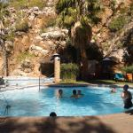 Pool with hot natural spring water from underground