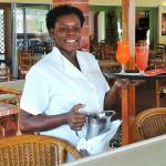 Service with a smile - dining room, lounge on upper terrace