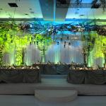 Colorful LED wedding decor in the Westin Lombard
