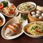 Fish...dimsums..Prawns and Noodles