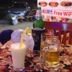 yummy lassi and Chang beer