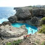 Pool in the cliffs - short walk from hotel