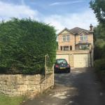 Outside drive and house