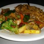 Beef and Vegetables with lo mein