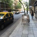 Pacheco de Melo street view in front of the hotel