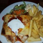 Enchiladas with chips