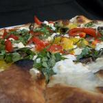 Roasted Vegetable and Goat Cheese Pizza